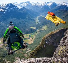 Most Dangerous Race in the World — Base Race To Win. Participants must race each other to the bottom of a cliff using only a wingsuit, the law of gravity and nerves of steel. The track for this event is a 2,500 foot drop down the side of a cliff, somewhere in Norway.