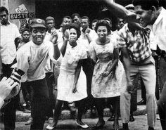 Prince Buster leading a block party on orange street, kingston