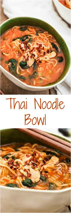 Delicious Chicken Noodle Soup with a Thai twist.