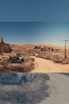 Photo montage with Adobe Photoshop Photoshop Ideas, Adobe Photoshop, Photo Montage, Ghost Towns, Wild West, Color Change, Country Roads, Image, American Frontier