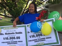 Congrats to Niakeela Dodds of Chattanooga, TN on her #PCH win! Niakeela was SO happy to win! Her smile says it all!!