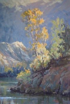 Fall on the American River by Kim Lordier Pastel ~ 36 x 24