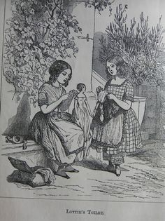The Well-Bred Doll ~ A Victorian illustration.