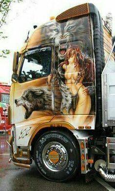 Customised Trucks, Custom Trucks, Show Trucks, Big Rig Trucks, 6x6 Truck, Big Tractors, Custom Big Rigs, Volvo Trucks, Trucks And Girls