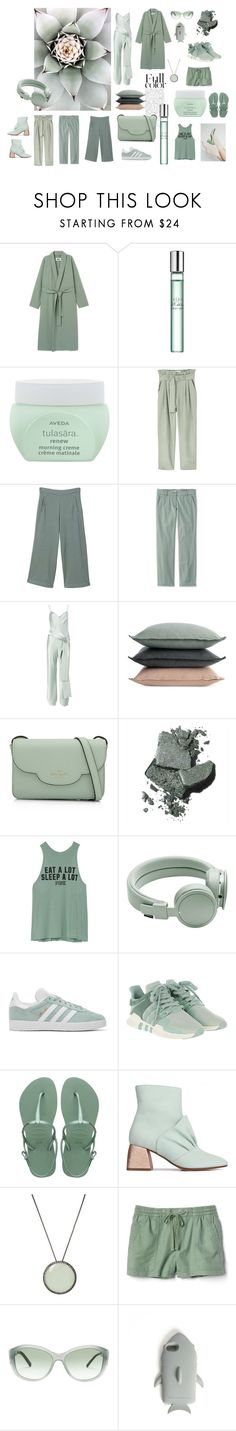 """The softest green"" by ellasophialove ❤ liked on Polyvore featuring Sephora Collection, Aveda, MANGO, Galvan, Design Within Reach, Kate Spade, Bobbi Brown Cosmetics, Victoria's Secret, Urbanears and adidas Originals"