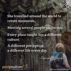 A different life every day. #travel #poem #postpositives