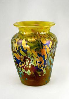 Art Nouveau Loetz Phen Genre Cytisus Vase