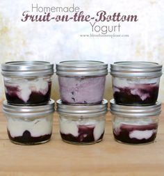 Homemade Fruit on the Bottom Yogurt Cups naturally sweetened clean and healthy snackin; | www.blessthismessplease.com