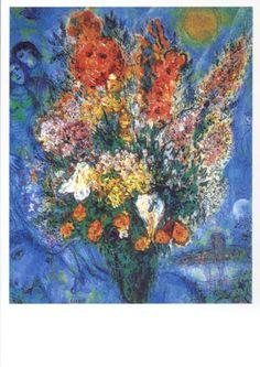Bloemen. Meer kaarten van Chagall bij www.postersquare.com