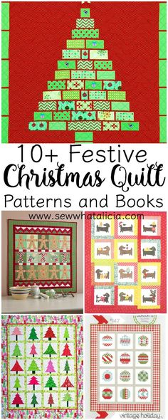 10 Christmas Quilt Patterns and Books: These adorable Christmas sewing patterns and books are perfect to get you in the holiday spirit! Start your Christmas sewing now. Click through to see the entire list of patterns and books. Christmas Sewing Patterns, Easy Sewing Patterns, Easy Sewing Projects, Sewing Projects For Beginners, Sewing Crafts, Sewing Tips, Sewing Tutorials, Christmas Quilting, Free Sewing