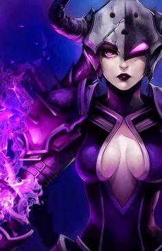 LoL: Darkflame Shyvana by ippus.deviantart.com on @deviantART