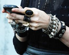 Go hard with spikes and leather and studs.