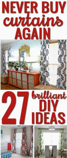 27 DIY Curtain Ideas