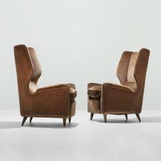 Gio Ponti, Lounge Chairs From Hotel Bristol In Merano, C1950. Sofa Furniture ,