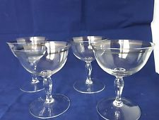 4 X VINTAGE SILVER  BANDED CHAMPAGNE SAUCERS COUPES Champagne Saucers, Vintage Silver, Pottery, Band, Tableware, Ceramica, Sash, Dinnerware, Pottery Pots