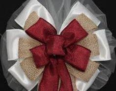 Výsledek obrázku pro burlap decorations for christmas