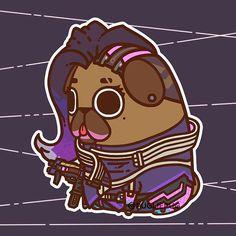 *BOOP* • • • #overwatch #sombra #puglie #pug #illustration #digitalart #pugs by pugliepug