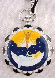 Unusual Deco Art to Wear Erte Pocket Watch : Front