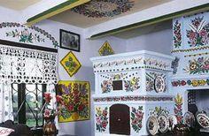 traditional interior in Zalipie village