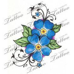 Marketplace Tattoo Forget Me Nots #9611 | CreateMyTattoo.com