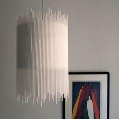 Luminárias com canudos - * Decoração e Invenção *