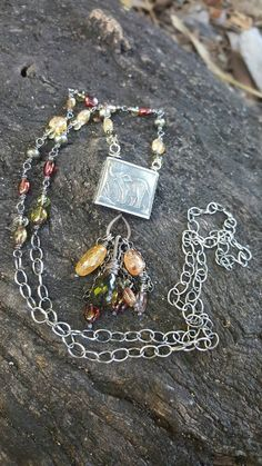 Safari Anne Choi elephant necklace artisan bead necklace