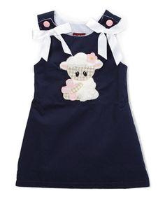 Another great find on #zulily! Dark Blue Lamb Dress - Infant, Toddler & Girls #zulilyfinds