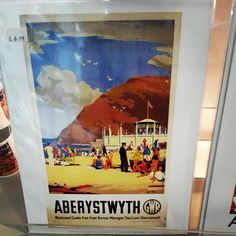 Really nice Aberystwyth souvenir print. Classic GWR tourism imagery. For sale at Aberystwyth Arts Centre Craft & Design Shop.