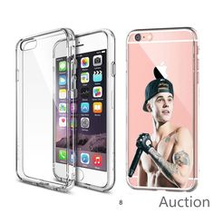 Justin Bieber for iPhone 7 CLEAR TPU Cover Case Laser Technology #designyourcasebyme