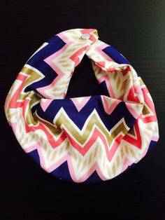 Baby Infinity Scarf Bib Pink Purple and Gold by AChicBabyBoutique