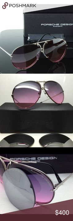 Nwt Porsche Aviator Sunglasses Brand New Porsche Aviator Sunglasses. Titanium Pink with extra set of interchangeable lenses. Comes with cards, cloth, and case. Porsche Design Accessories Glasses