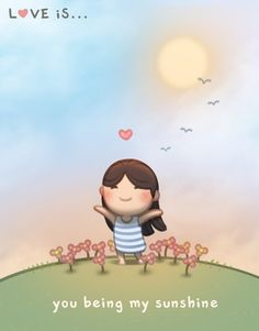 Check out the comic HJ-Story :: Love is. You being my sunshine ~ Love is… Hj Story, Cute Couple Cartoon, Cute Love Cartoons, Cute Cartoon, Cute Love Stories, Love Story, Anime Chibi, Chibi Cat, Anime Art