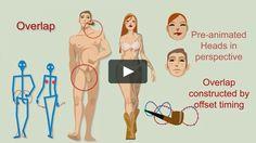 human walk cycle animation