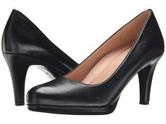 Naturalizer Michelle - size 10 in  black leather (non-shiny), width M - $90; heel 3""