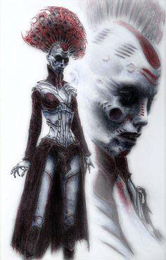 Gothic Art, Sci Fi Art, Dark Fashion, Horror Art, Macabre, Occult, Dark Art, Witchcraft, Painting & Drawing