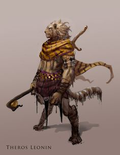 Leonin concepts from Theros Fantasy Races, Fantasy Warrior, Fantasy Rpg, Character Concept, Character Creation, Character Art, Concept Art, Dnd Characters, Fantasy Characters