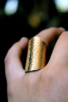 Hammered ring.
