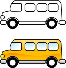 """Make a free """"Wheel's on the Bus"""" Summer activity packet! Print free activities and coloring pages that revolve around busses and transportation, Art Drawings For Kids, Drawing For Kids, Easy Drawings, Art For Kids, Printable Coloring Pages, Coloring Pages For Kids, Coloring Books, School Bus Drawing, School Bus Clipart"""