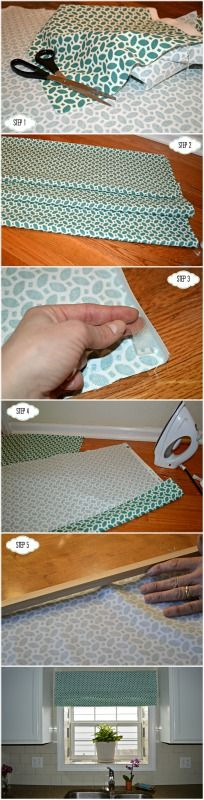 step by step tutorial for a DIY window treatment