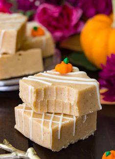 Pumpkin Fudge Recipes A great easy recipe for Pumpkin Fudge! NO candy thermometer required! Fudge Recipes, Candy Recipes, Sweet Recipes, Baking Recipes, Amish Recipes, Dutch Recipes, Fall Dessert Recipes, Just Desserts, Delicious Desserts