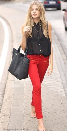 Red and Black | Street Style