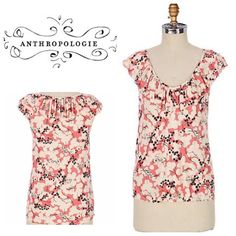 Anthropologie Cloudberry top - weston wear Size s and will fit a size 4-6. Top is in great condition. Will bundle for 10% off on all bundles of two or more items Anthropologie Tops