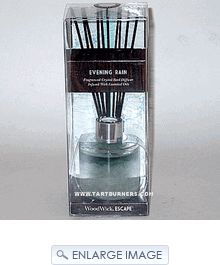 Woodwick Candle Escape Crystal Reed Diffuser 2.5 Oz - Evening Rain