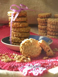 Essenza di Vaniglia: Biscotti ai fiocchi d'avena e riso soffiato, caram...