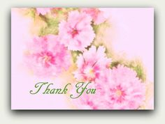 Instant Download Pink Carnations Thank You Card by GrammiesDrawers, $3.50