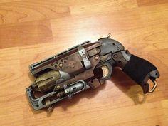Nerf Steampunk Hammershot pistol with scope