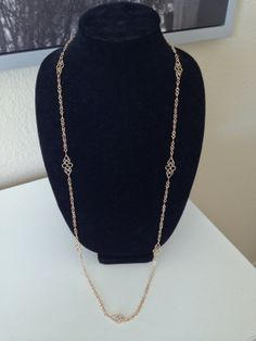 Gold Handmade Chain Necklace with Scroll Links by EverydayBijoux, $20.00