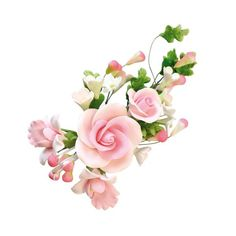 Bouquet pastillage Roses roses
