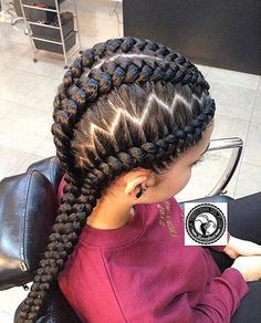 31 Best Ghana Braids Hairstyles Page 2 Of 3 How to Style Of Zig Zag … – Trend Frisuren Ghana Braids Hairstyles, Cool Braid Hairstyles, Braided Hairstyles For Wedding, African Hairstyles, Hairstyles 2018, Black Hairstyles, 4 Braids Cornrows, Ladies Hairstyles, Teenage Hairstyles