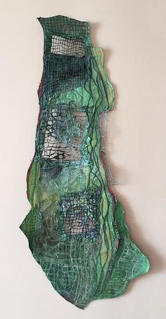 Anna Wagner-Ott is an artist who specializes in encaustic and mixed media. Home textile art mixed media Mixed Media Sculpture, Collage Art Mixed Media, Sculpture Art, Sculpture Ideas, Mixed Media Artists, Abstract Sculpture, Painting Abstract, Acrylic Paintings, Wall Sculptures